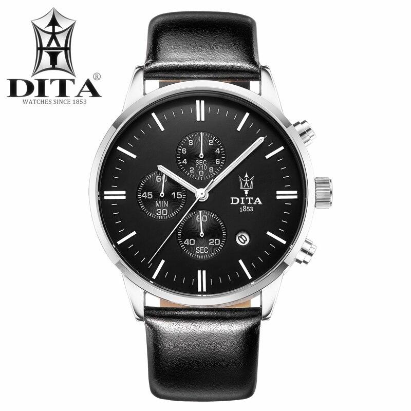 Mens watches DITA Chronograph Quartz watch Classic Sport wristwatch Women Geniune Leather Strap Stop Watch Hotsell Fashion