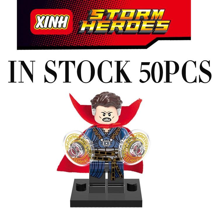 Pogo gifts Wholesale 50PCS Doctor Strange Learning Avengers Marvel Super Heroes Building Blocks Bricks Toys Compatible Legoe