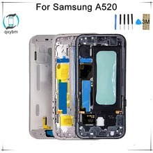 5.2 Inch for Samsung for Galaxy A5 2017 Version A520 A520F Mobile phone Front Frame Bezel Case Plate Replacement Factory Price