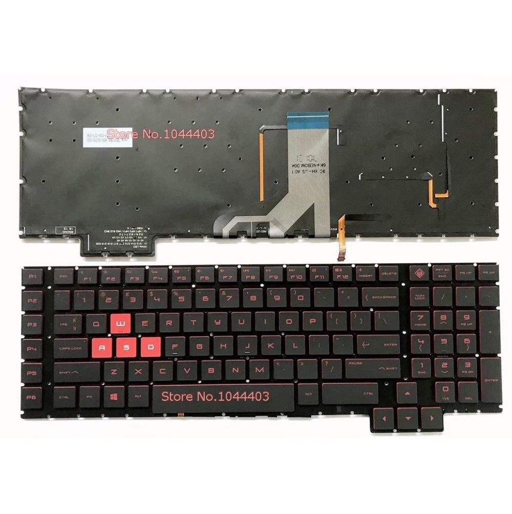 New For HP Omen 17-an 17-an00 17-an013tx 17-an014tx US Backlit Keyboard Red Font