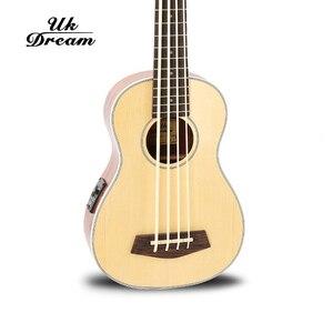 Image 3 - 30 インチウクレレ低音rosewooden 4 弦楽器木製ギタープロ低音ウクレレミニギターUB 513
