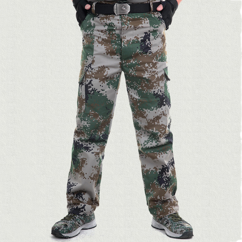 2018 Winter Men Camouflage Military Pants Tactical Linen Pants Casual Pocket  Army Trousers Cargo Pants Male Tracksuit  3XL 50