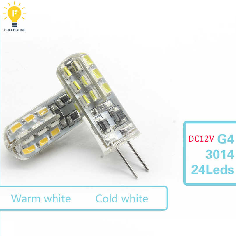 G4 LED 3 W 6 W 7 W 12 W LED Lampu Bohlam LED 3014SMD 24LED 48LED Lampu Beam 360 sudut LED Spot Light Garansi Lampu Kristal Lampu
