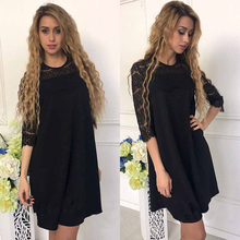 Lace Stitching Straight Dress
