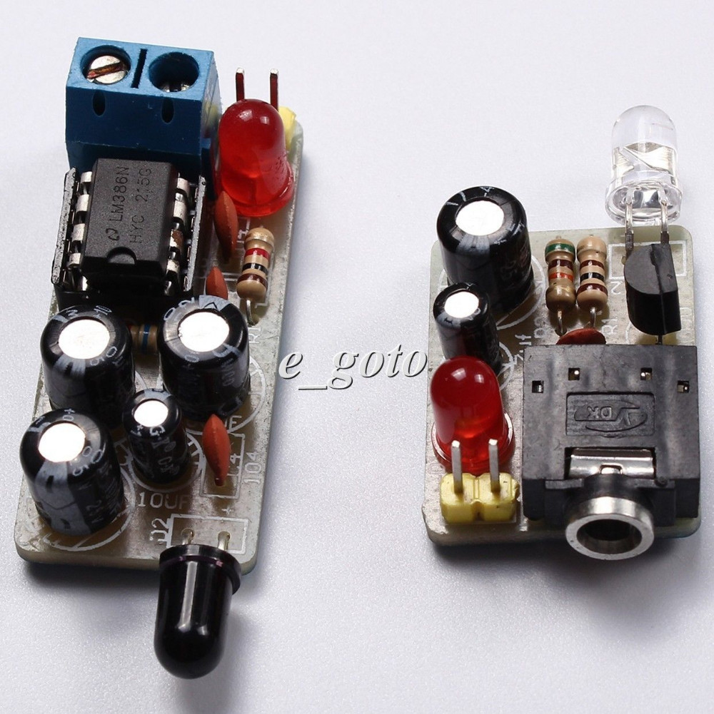 2Pcs DIY Kits Infrared Wireless Module Wireless IR Sound Voice Transmission Module ICSK054A DIY Kit Suite Electronic production