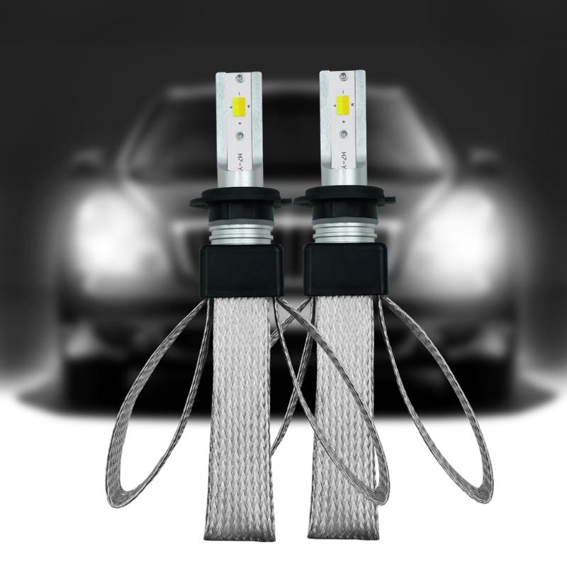 2 PCS High Performance H7 120W 20000LM LED Three color Headlight Kit Beam Bulbs