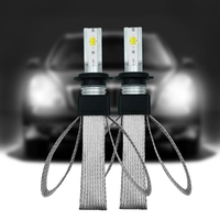 2 PCS High Performance H7 120W 20000LM LED Three color Headlight Kit Beam Bulbs