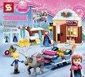 Nova 205 pcs Trenó do Adventure 41066 Princesa Anna & Kristoff Série Building Block Brinquedo Meninas Compatível Com Lepin