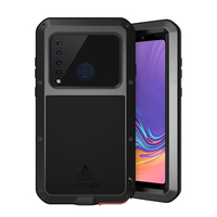Luxury Full Body Protective For Samsung Galaxy A9 2018 Case Tempered Glass Shockproof Metal Armor Cover For Samsung A9 A9S Case