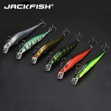 JACKFISH Minnow Fishing lure 6pcs/lot 14CM/11G Laser paint lures swimbait wobbler pesca synthetic arduous bait fishing sort out