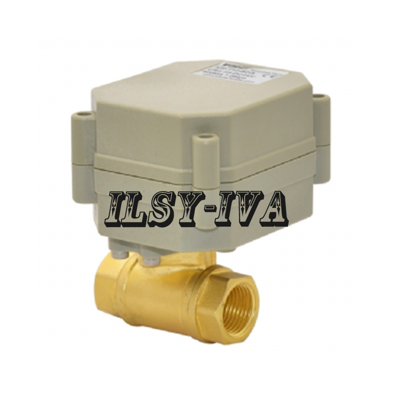 "Banjo Electric 3 Way Directional Ball Valve: DC12V G3/8"" Brass Electric Ball Valve,DN10 Two Way,seven"