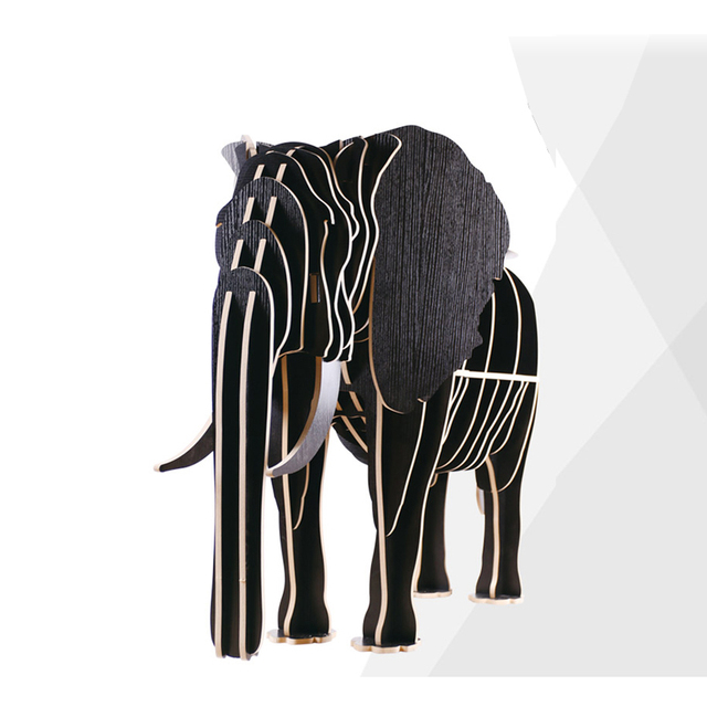 Criativo Nordic Decoração artesanato Decoração da Casa de madeira de moda Europeus criativo Australiano elefante bonito presente lembranças