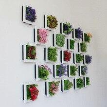 Моделирование 3D растения Страна Стиль стены стикеры Висячие искусственный цветок из пластика рамки для картин магазин Новогоднее украшение подарок