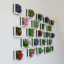 Simulation 3D Plants Country Style Wall Sticker Hanging Artificial Pastic Flower Picture Frames Store New Year Decoration Gift