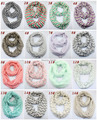 New infinity scarf circle scarf Wave Chevron Women and Teens Loop scarf 16 colors #3729