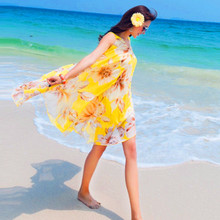 Fashion pregnant women Bohemia beach skirt  Maternity Dress loose chiffon dress code for