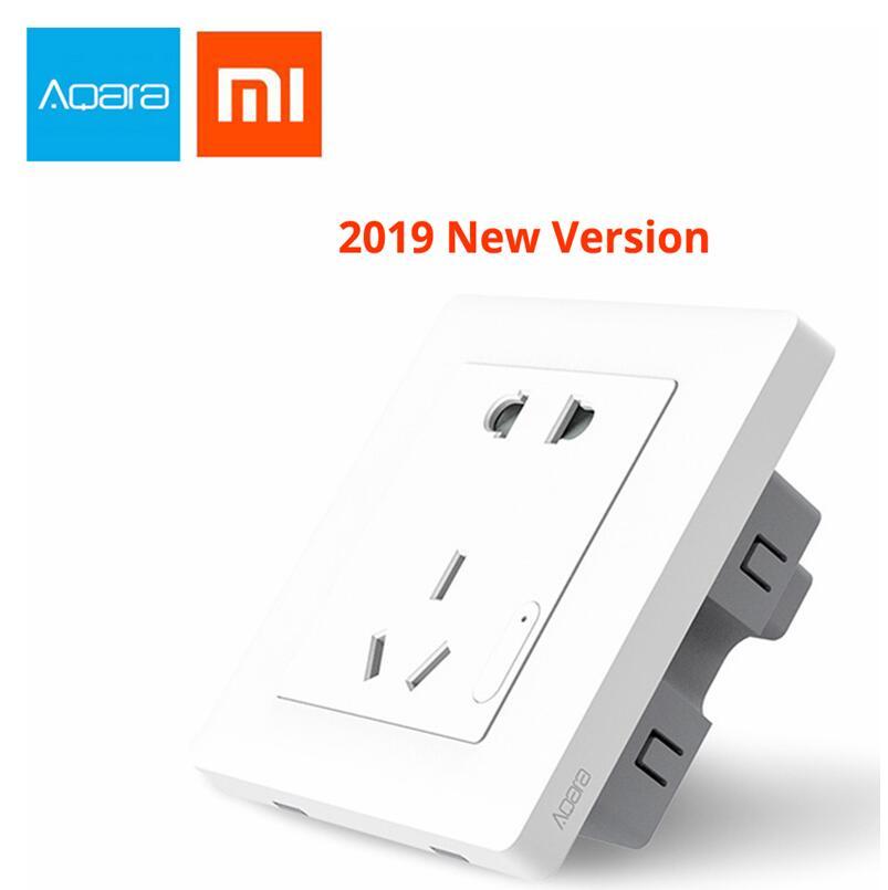 2019 Xiaomi Aqara Smart Wall Socket, Zigbee Wifi Remotel Control Wireless Switch Work For Xiaomi Smart Home Kits APP