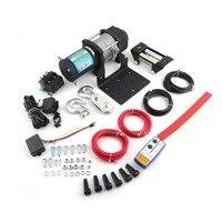 1 компл. 3500lb Практические Электрический лебедка с дистанционным управлением Авто Лифт лебедки аксессуары для ATV Offroad высокое качество