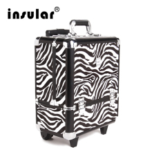 Free Shipping Large Capacity Professional Cosmetic Case Cosmetic Trolley Aluminum Makeup Cases Makeup Bag
