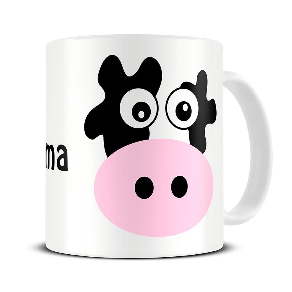 Personalised name Cow Mug Mugs coffee mugs ceramic Tea travel porcelain decal home kitchen milk mugen