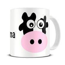 Personalisierte namen Kuh Becher Becher kaffeetasse keramik Tee reise porzellan aufkleber home küche milch mugen