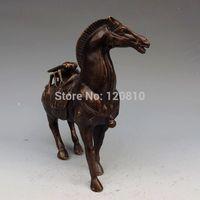 Chinese Bronze Statue Pferd Zikade-in Statuen & Skulpturen aus Heim und Garten bei