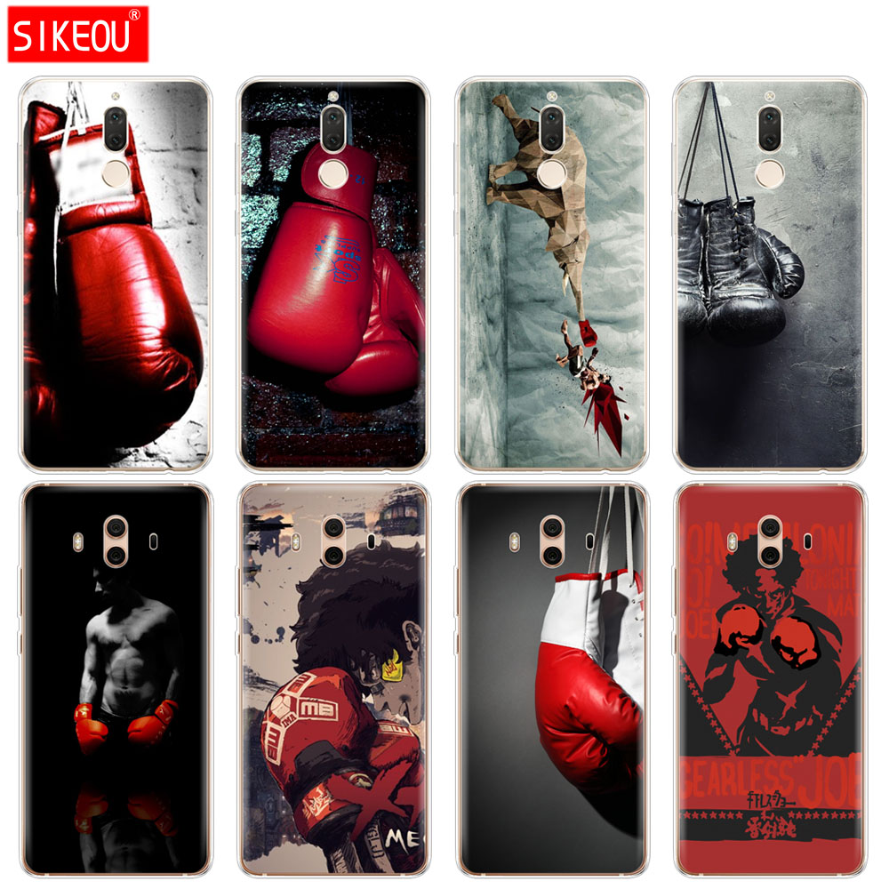 Silicone Cover phone Case for Huawei mate 7 8 9 10 pro LITE Muay Thai Fight Boxing