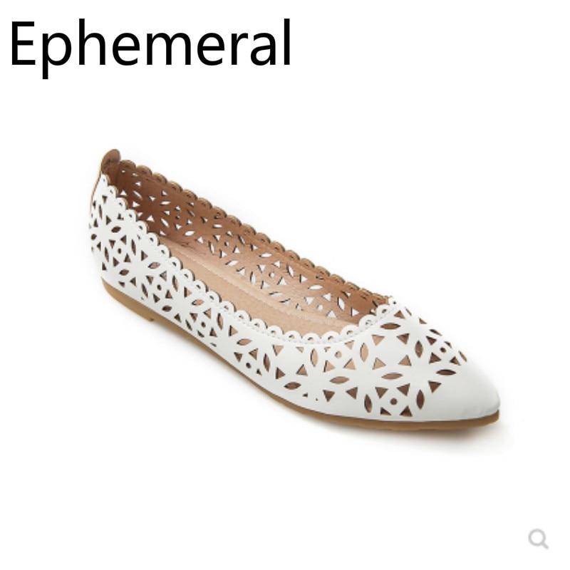 Zapatos planos de color beige y blanco para mujer, mocasines de punta estrecha transpirables con corte casual, top sin cordones, talla máxima 411 42 34 en verano