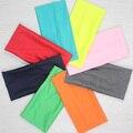 Женская мода спорт Yoga широкий хлопок конфеты цвет оголовье высокое качество впитывает пот эластичный широкий заставку для женщин