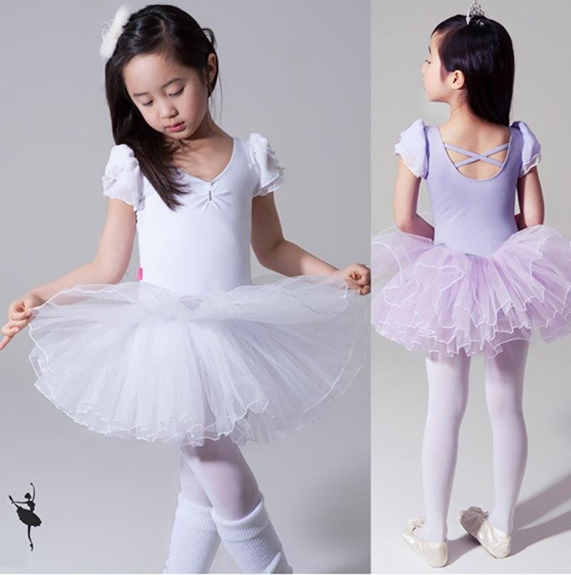Baletno krilo za otroke Pletena obleka Tutu s kratkimi rokavi New Prihod Visoka kakovostna profesionalna baletna plesna obleka