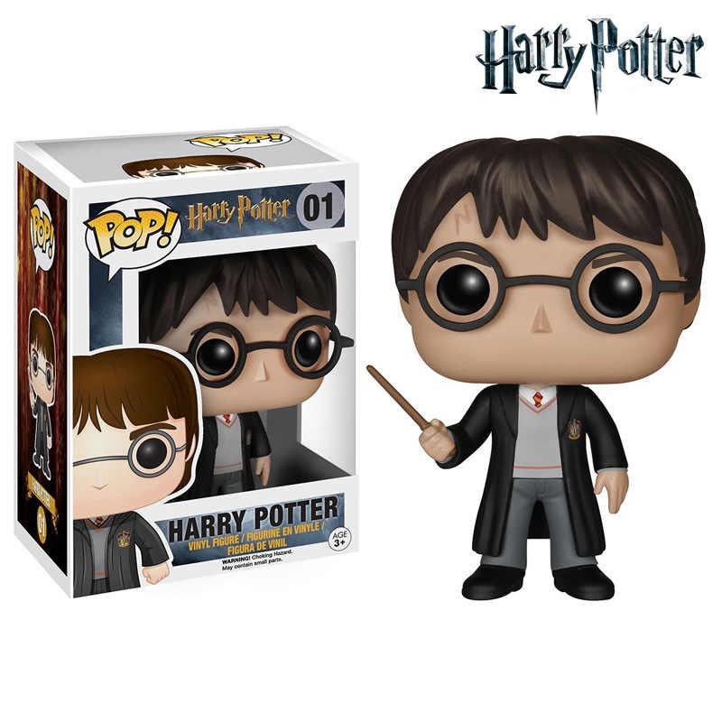 FUNKO POP Hot Filme 10cm Harri Potter Vinyl Action Figure Coleção Modelo Brinquedos Para Crianças presente de Aniversário