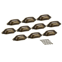 10 Pack cup Drawer Pull Kitchen Cabinet Handles Bronze Tone  83mm Hole Centers|Cabinet Pulls| |  -