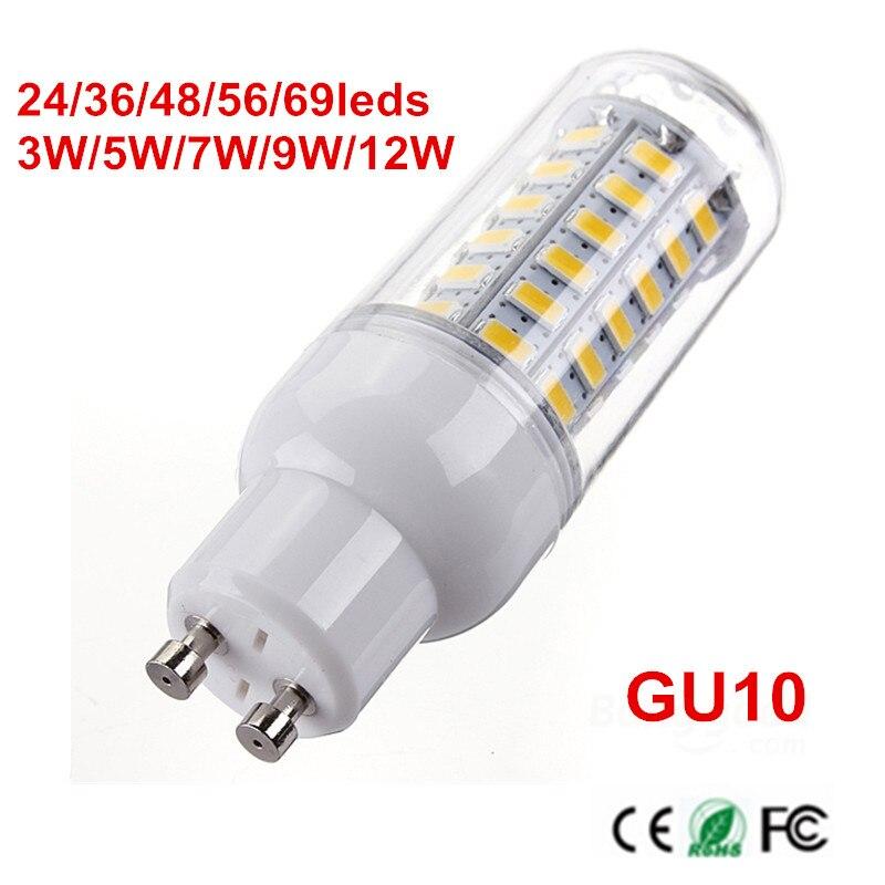 10 pièces 5730 SMD durée de vie LED ampoule de maïs lumière en aluminium PCB refroidissement LED s lampe AC220V 230 V 240 V 9 W 12 W 15 W 18 W 20 W LED Candel lumière