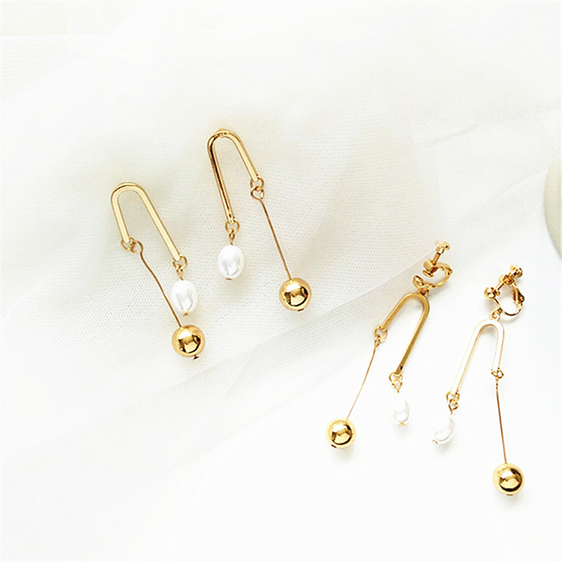 Boho Fashion Pearl Flower Earrings For Women ladies earrings retro exaggerated statement