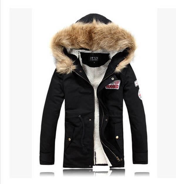 ФОТО Wholesale men winter jacket military equipment rabbit fur collar male wool coat clothes outwear chaquetas hombre 2014 S506