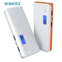 ROMOSS Powerbank LCD Display Screen Dual Output Port 10000mAh Capacity Power Bank Mobile Phone Charger External Battery