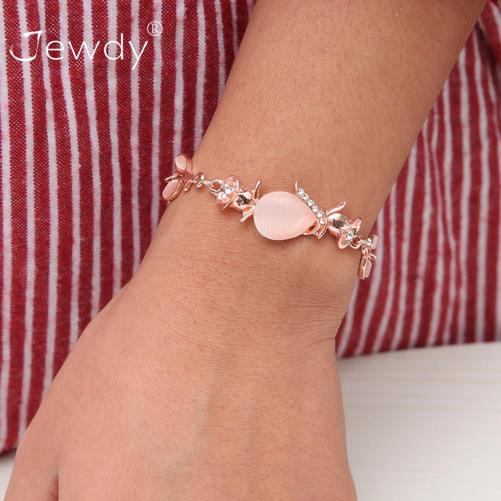 Detail Feedback Questions about Opal Stone Bracelet Bangle for Women Luxury  Adjustable Rose Gold Bracelets Pulseras Mujer Cuff Wedding Boho Jewelry  Party ... 3d2f7dd5dbbe