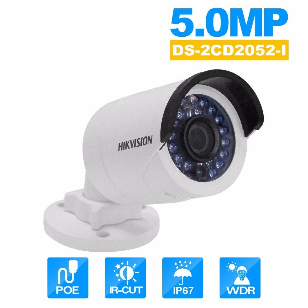 HIKvision DS-2CD2052-I Security Camera ip camera onvif  IR Mini Bullet Network Cam PoE 5MP WDR Network CCTV Camera module