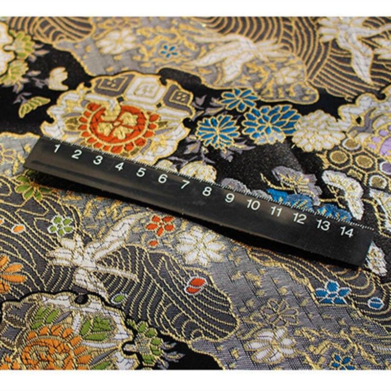 CF527 1 meter Die Kran Jacquard Nishijin Brokat Chinesischen Qipao Cheongsam/Japanischen Kimono Kleidung Stoff DIY Nähen Tuch-in Stoff aus Heim und Garten bei  Gruppe 3
