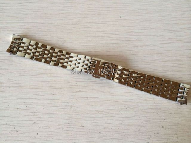 19mm Watch Parts force Locke T41 male strip Solid Stainless steel bracelet strap