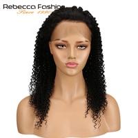 Ребекка 360 кружева фронтальной парик странный вьющиеся волосы естественного Цвет предварительно сорвал перуанской человеческих волос 360 К