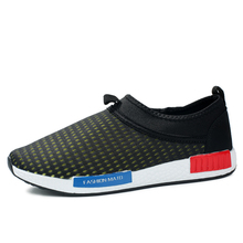 Nice New Summer Breathable Men Air Mesh Casual Shoes Fashion Mens Trainers Slip On Rubber Men Shoes Zapatillas Hombre