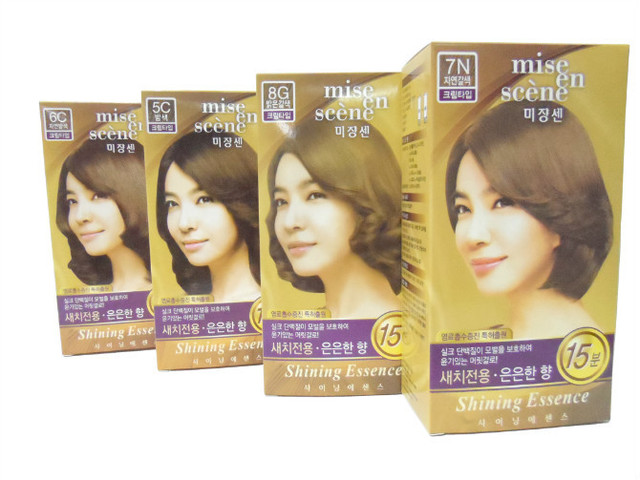 The new Korean 120ml double perfect color dye cream hair coloring cream hair coloring agent hair coloring hair cream creamG020