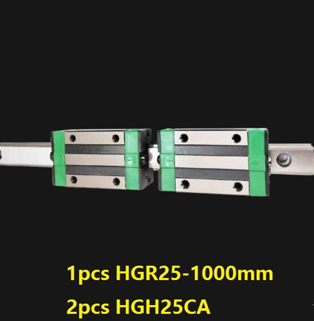 1pcs linear guide rail HGR25 1000mm + 2pcs HGH25CA linear narrow blocks for CNC router parts Made in China akg6090 made in china high quality desktop mini cnc router 4060 for sale