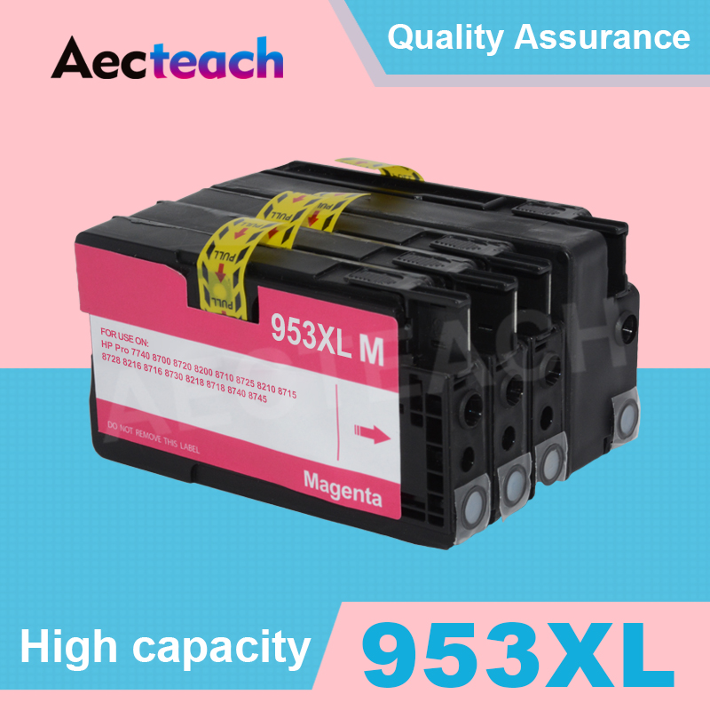 Aceteach <font><b>953</b></font> XL Ink Cartridge For <font><b>HP</b></font> 953XL Officejet Pro 7740 8210 8218 8710 8715 8718 8719 8720 8725 8728 8730 8740 Printer image
