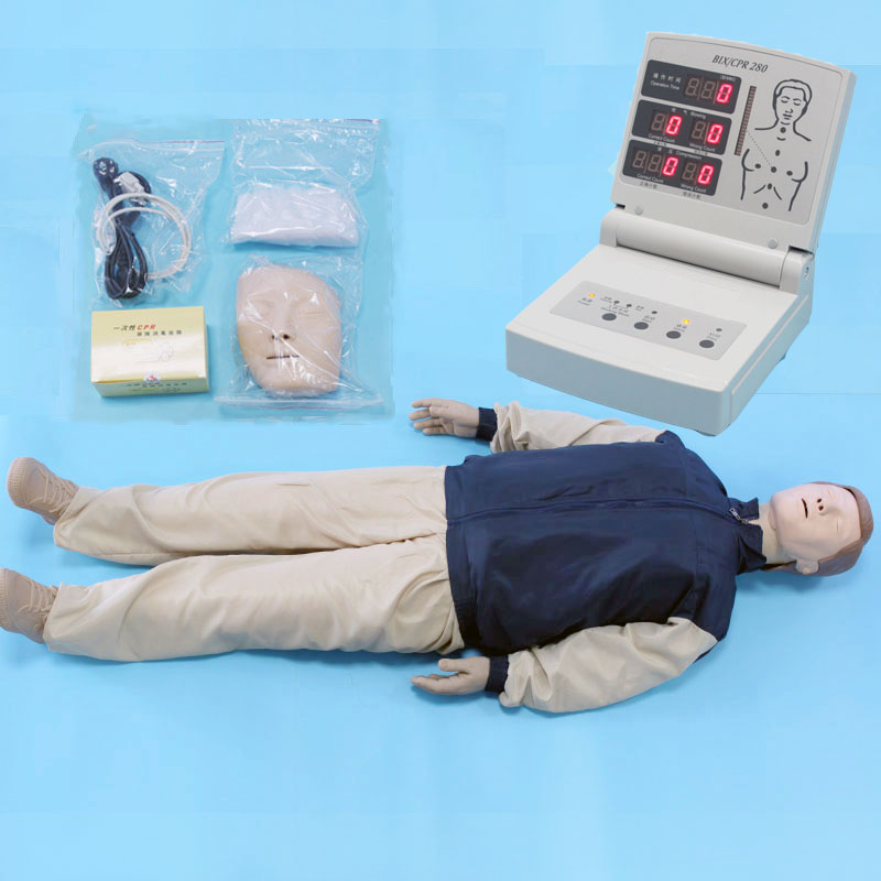 BIX/CPR280 Functional Electronic First Aid Training Model CPR full Body Manikin bix cpr100a electronic half body cpr and first aid training dummy w056