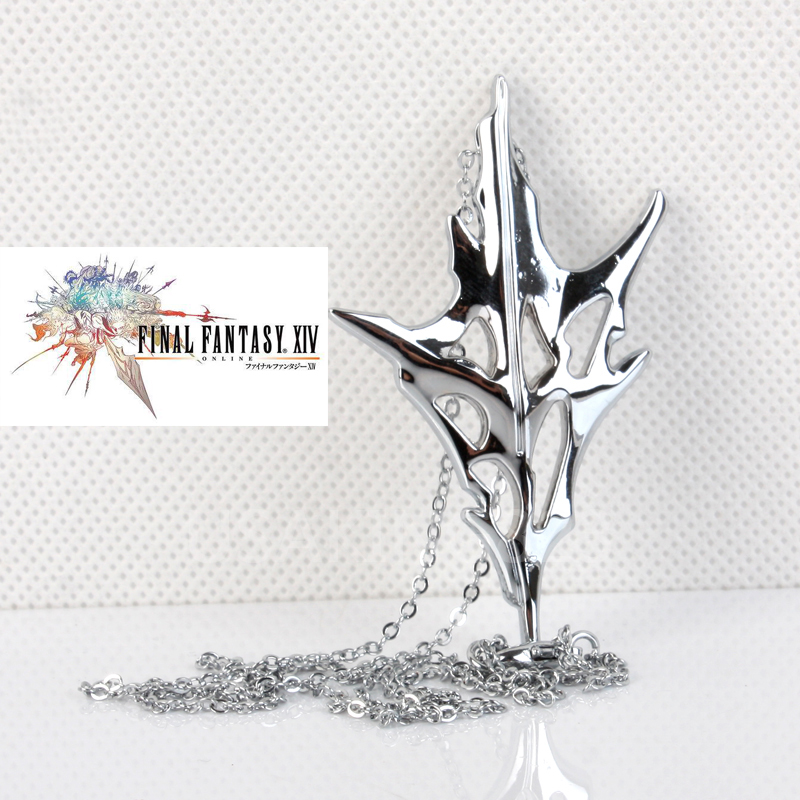 Game Final Fantasy XIII Necklace Lightning Zinc Alloy Necklace Pendant Cosplay Prop Gift for Women Men Dropshipping