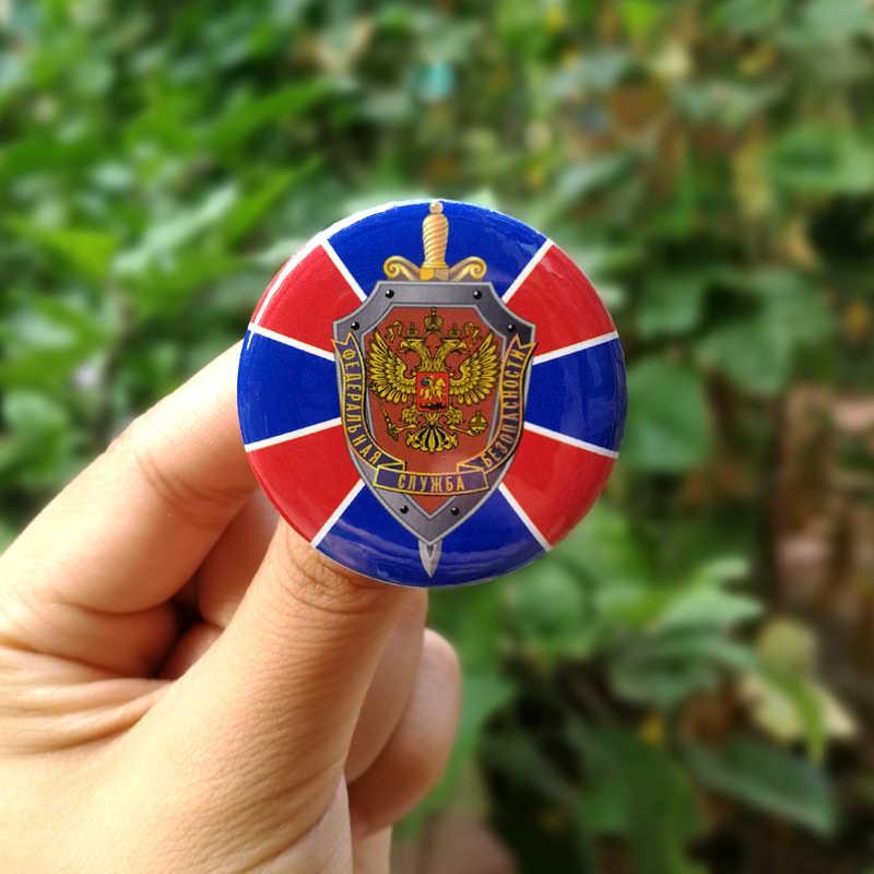 Nengdou T17 Bahasa Rusia FSB Bendera Tentara Lencana untuk Ransel Tentara Rusia Alpha Pasukan Khusus Melawan Bros Kebanggaan Pin Militer lencana