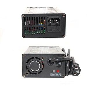 Image 5 - Cargador de iones de litio de 29,4 V y 5A para 7S, 24V, 25,9 V, con ventilador de refrigeración, cargador de batería de litio inteligente de 29,4 V