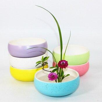 Kreative Bunte Keramik Obst Salat Schüssel Pflanzer Hydro Narzissen Blumentopf Tischplatte Pflanze Bonsai Kunst Ikebana Blumentopf